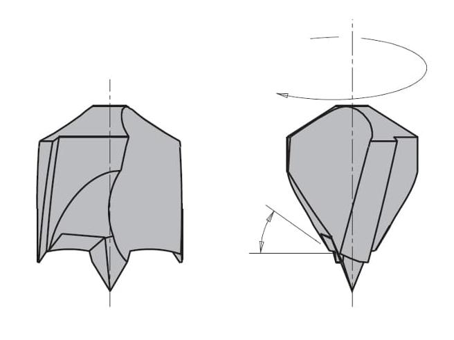 L=57.5 S=Ø10x34 Глухие свёрла CMT Свёрла и зенкеры Инструмент
